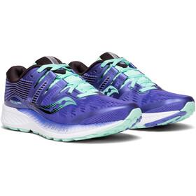saucony Ride ISO Shoes Women Violet/Black/Aqua
